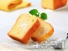 Рецепта Лесен маслен кекс без мляко